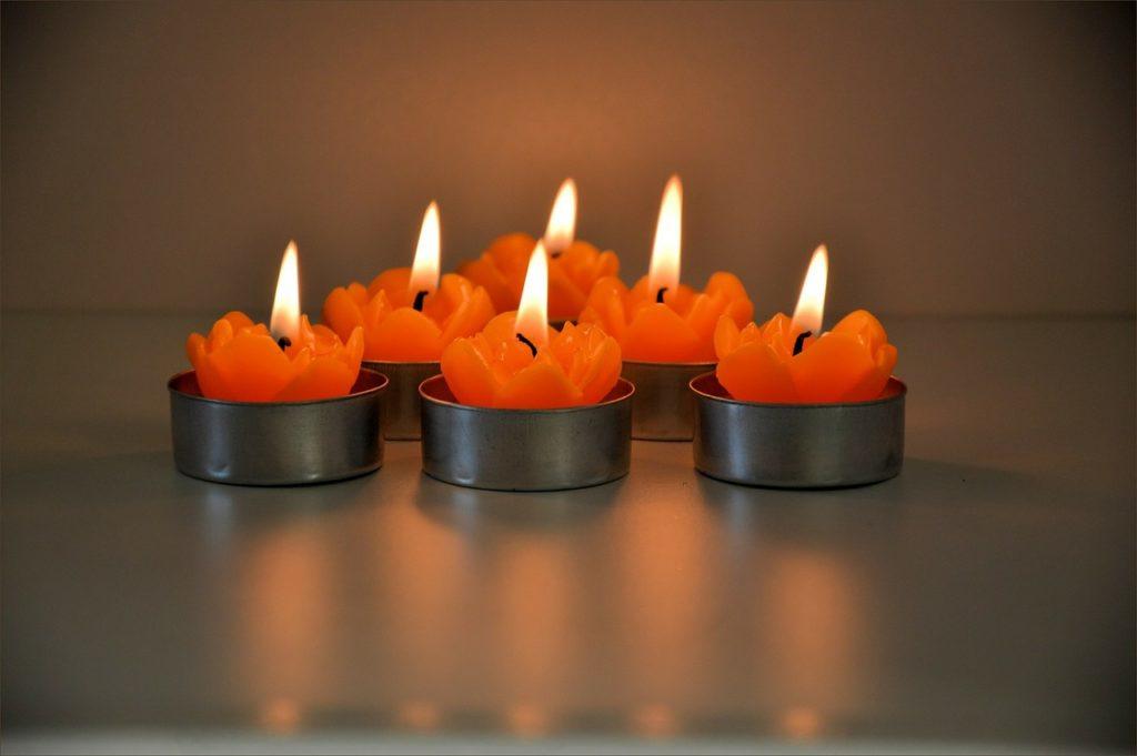 świece z wosku sojowego