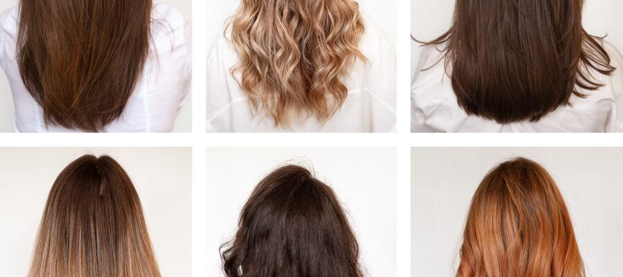 6 kobiet z różnymi włosami
